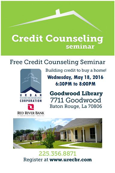 May 18 Flyer - Credit Counseling Seminar